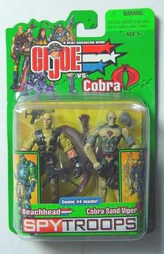 Beachhead vs Cobra Sand Viper GI JOE Comic Pack | 2003 Hasbro Spy Troops || In stock @DCCollectibles (click image to buy it now). Your order 2 or more items (order total $69 or higher), ships for FREE! Continental US only.