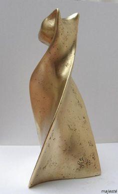 sculpture ; chat; bronze; flore de valicourt