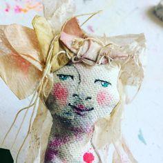 Good morning little Miss Tea Bag Hair Surprise! #cre8TEAvity #justdoingmything #teabagartlover #mischraart