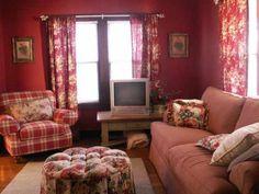 Summer Country Cottage Design Living Room