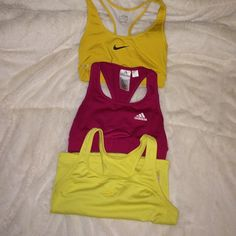 Bundle of sports tops Nike fit dry size s 4/6     Adidas climate size s     And reebok size small good condition Nike Intimates & Sleepwear Bras