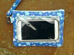 Cell Phone WalletBlue Turquoise floral by StitchingInTheTrees, $30.00