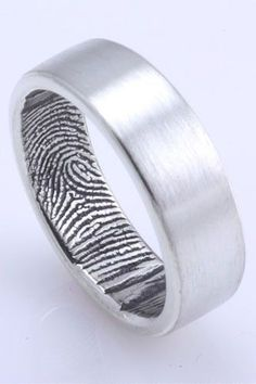 Fabuluster The Original Custom Fingerprint Wedding Band in Sterling Silver, $195, available at Fabuluster.