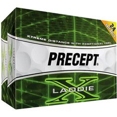 Precept Laddie X Golf Balls, 2 dozen, White