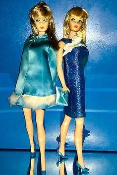 Vintage-Mod-Barbie-TNT-Lot-039-68-Sears-Exclusives-HTF-Gowns-Tag-039-d-Japan-Shoes