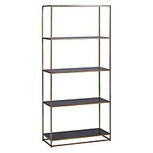 Buy Content by Terence Conran Black Enamel Tall Bookcase, Black Online at johnlewis.com