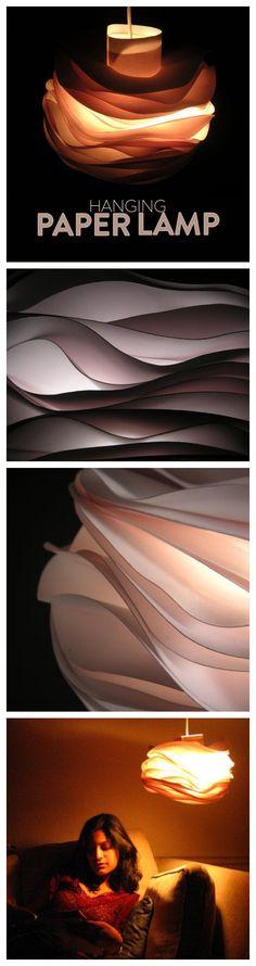 Hanging Paper Lamp #decoration #paper_craft #lighting