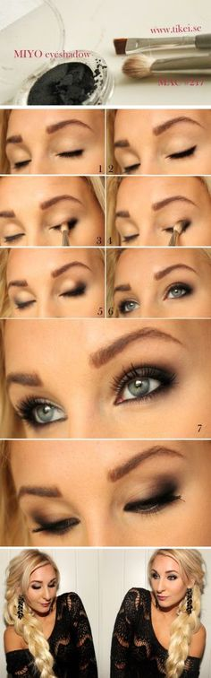Beautiful eye makeup tutorial for subtle smokey eyes