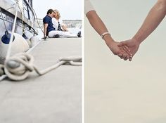 Nautical Engagement Pictures By Wedding Inspiration Blog