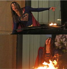 at least she had fun! Kara Danvers Supergirl, Supergirl Tv, Supergirl And Flash, Melissa Benoist, The Cw, Superman, Alex Danvers, Cw Dc, Lena Luthor