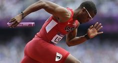 Break a leg: Mitchell certainly did, but kept on running to help US reach final of 4x400 relay, now that's bad ass!