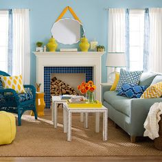 O azul encontra amarelo - Decor Ideias Casa