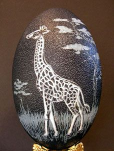 Artists' Undertaking Gallery Eggshell Carving Artist Tina Kannapel