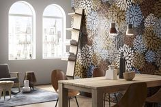 Mosaico+ Decor Collection - Florilège Red  #mosaicopiu #glassmosaic #mosaic #mosaico #living #openspace #interiordesign #walldecor #decoration #design #madeinitaly