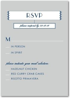 5 Types of Wedding RSVP Card Wording Pinterest Response cards
