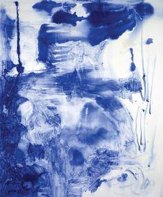 "Sigmar Polke, Lapis Lazuli II, 1994, lapis lazuli and dammar resin on canvas, 9' 10 1/8"" x 7' 4 3/8"". All works by Sigmar Polke � Artists Rights Society (ARS), New York."