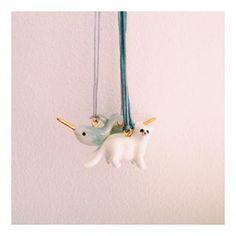 Kids Mini Porcelain Animal Necklaces - £20