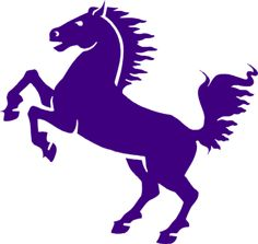 Purple Mustang clip art