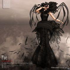 Poe Dress Black Group Gift by PurpleMoon