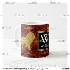 Lions Burlwood Monogram Coffee Mug