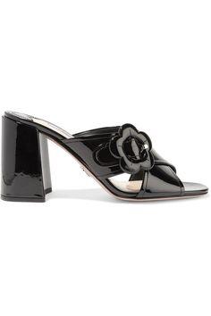 Prada - Buckled Patent-leather Mules - Black - IT35.5
