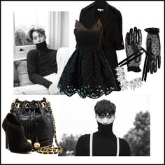 Black by syahidahdea on Polyvore featuring Carven, Chanel, Atmos&Here and Accessorize