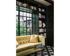 Brass Jones: Designer Crush: Jessica Helgerson. Books above window.
