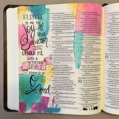 Bible Journaling Idea