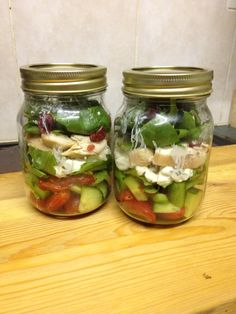 Jar salad - staying healthy sometimes needs an injection of creativity and fun