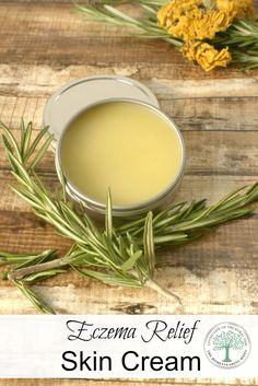 Help soothe dry, itchy, eczema patches with this all natural skin cream! The Homesteading Hippy via @homesteadhippy