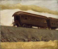 From 'Industrial Strength: Selections from the Collection': Edward Hopper, Railroad Train, 1908, oil on canvas, 24 1/4 x 29 in., gift of Dr. Fred T. Murphy (Class of 1893), 1944.10