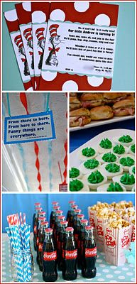 Dr. Seuss Baby shower! FUN! Cute idea for bday parties too!