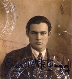 Wow Ernest Hemingway was a hottie! The 1923 passport of Ernest Hemingway. Ernest Hemingway, The Sun Also Rises, Great Novels, Writers And Poets, Book Authors, Books, Famous Faces, Vintage Photographs, Old Photos