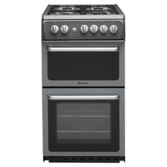 Buy Hotpoint HAG51G Graphite Gas Cooker, Twin Cavity, Single Oven from our Free Standing Cookers range - Tesco.com
