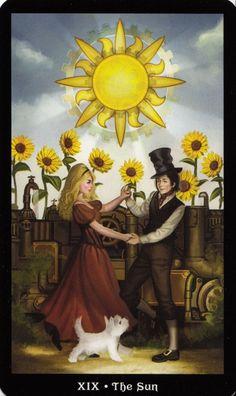The Sun - The #Steampunk #Tarot #Sun Should your spirit seek a reading you can find us here www.cecelia.com.au