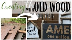 Old Wood Decor ~ Simple Decor DIYs ~ Old Wood Ideas ~ Old Wood repurpos...