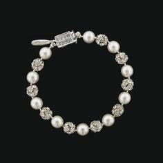 Bracelet with Rhinestone Beads & Glass Pearls | Giavan