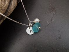 Sea+glass+jewelry++Personalized+blue+sea+by+FatCatsOnTheBeach,+$31.00
