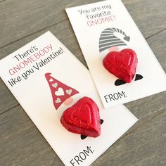 FREE printable gnome Valentine& Day cards for kids. There& gnome body like you valentine. Kinder Valentines, Valentines Bricolage, Valentine Gifts For Kids, Homemade Valentines, Valentines Day Treats, My Funny Valentine, Valentines Day Decorations, Valentine Day Crafts, Valentine Ideas