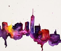 New York City 8x10 Print of Watercolor by TalulaChristian on Etsy