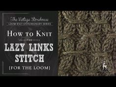 Day 7: How to Knit the Lazy Links Stitch {31 Days of Knitting Series} - The Vintage Storehouse & Company