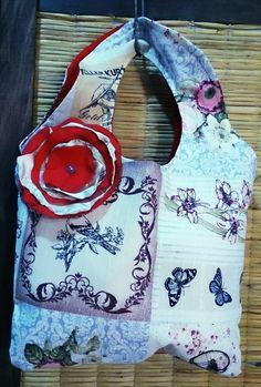 Estilo vintage manija integrada, flor en seda