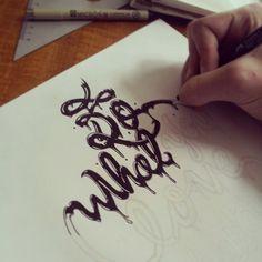 Hand Drawn Typography by Josh Krecioch, via Behance Types Of Lettering, Lettering Styles, Hand Lettering, Typography Letters, Typography Logo, Typography Design, Typography Inspiration, Graphic Design Inspiration, Logos Retro
