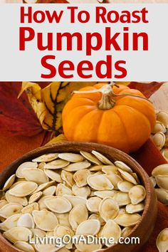 I can't believe how easy this tasty roasted pumpkin seeds recipe is and it is super yummy! It's a great way to use those pumpkin seeds, and this post also has instructions for how to roast a pumpkin, pumpkin recipes and more! Click here for the easy recipe!