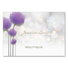 Professional elegant modern luxury bokeh floral large business cards (Pack of 100). Make your own business card with this great design. All you need is to add your info to this template. Click the image to try it out!