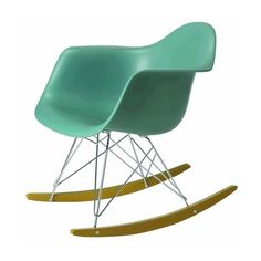 Eames RAR rocking chair ❤ liked on Polyvore featuring home, furniture, chairs and accent chairs