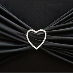 Silver Heart Diamond Chair Buckle Sash Pin Catering Wedding Party Decorations - x Wedding Chair Sashes, Wedding Chairs, Glitz And Glam, Chair Fabric, Metal Buckles, Diamond Heart, Diamond Shapes, Hair Accessories, Silver