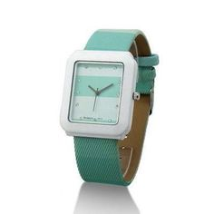 Fashion Quartz Crystal Women Ladies Girls Wrist Watch Square Dial Green 205