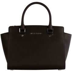 Michael Kors Bags ($320) ❤ liked on Polyvore featuring bags, handbags, shoulder bags, nero, michael kors shoulder bag, genuine leather purse, michael kors, handle bag and leather purses