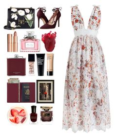 """5.045"" by katrina-yeow ❤ liked on Polyvore featuring Zimmermann, Massimo Matteo, Dolce&Gabbana, Charlotte Tilbury, Christian Dior, Daum, Aspinal of London, NARS Cosmetics, Royce Leather and Clark's Botanicals"